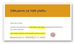 Woo 3.5.1 a chyba v emailech zákazníkům 1