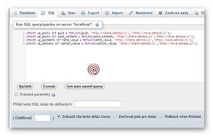 Změna URL přímo v databázi 1